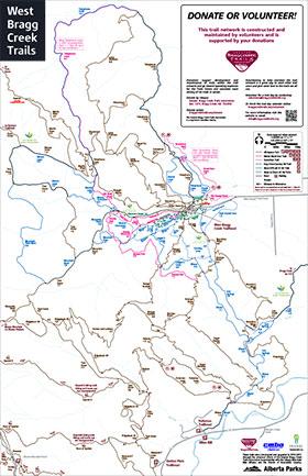 Full Bragg Creek trails map